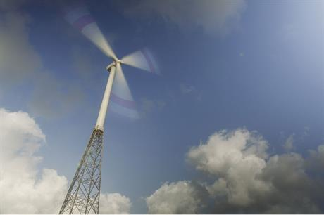 Suzlon's 120-metre hybrid tower is designed for low-wind sites