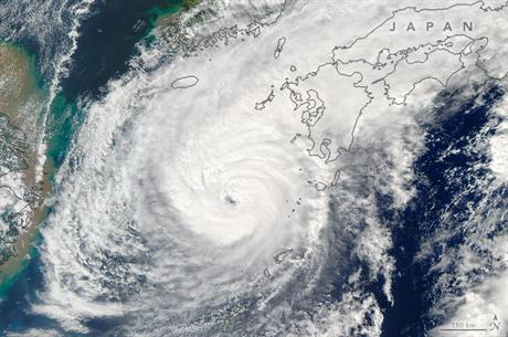 Typhoon Malakas made landfall in Japan on 19 September (Pic: Nasa Jeff Schmaltz, LANCE/EOSDIS Rapid Response)