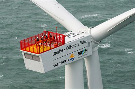 Vattenfall's 288MW DanTysk offshore project was fully commissioned in 2015