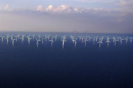 Vattenfall's 110MW Lillgrund offshore wind project off of southwest Sweden