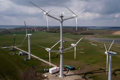 A recent product from Vestas' R&D department - the 900kW four-rotor concept turbine
