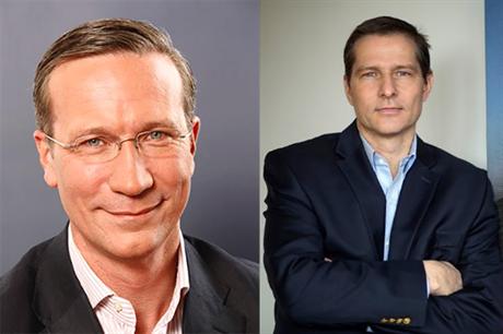 Nils de Baar, left, replaces Christoph Vogel as president of central Europe at Vestas