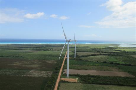 Vestas V112-3.3MW at Larimar project in the Dominican Republic. V117-3.45MW will power phase 2