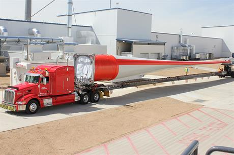 Vestas V117-3.3MW medium-wind turbine uses a 57.5-metre blade