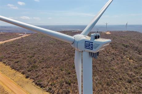 WEG turbines, using NPS PMDD technology under license in Brazil