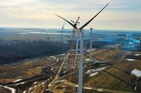 Whirlpool installed two Goldwind turbines at its Findlay, Ohio plant in January 2016