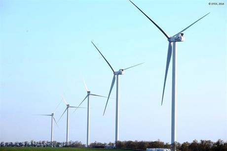 Vestas turbines at the 90MW Botievo project in Zaporizhia, Ukraine