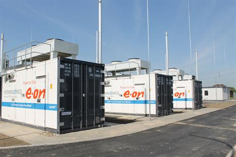 The unit can produce 360 cubic metres of hydrogen an hour