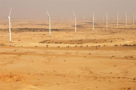 Goldwind turbines at the TGF project in Pakistan