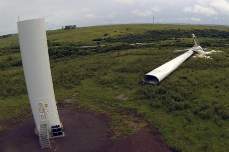 Eight Impsa turbines blown down in Brazil
