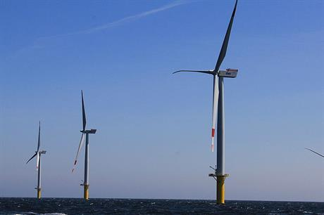 The 108MW Riffgat wind farm uses Siemens 3.6MW turbines