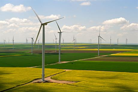 Fantanele-Cogaelac wind farm in Romania, owned by Czech CEZ Group