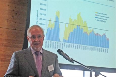 Sir Michael Lyons speaking earlier today