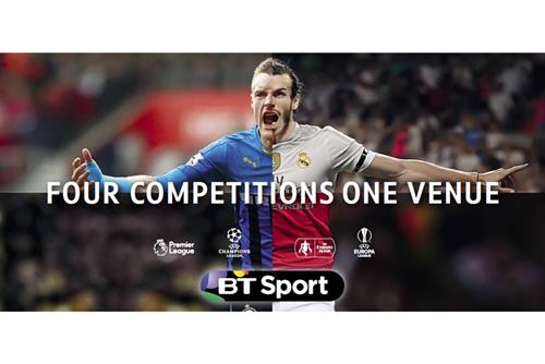 BT Sport promotes coverage of four football competitions together for first time
