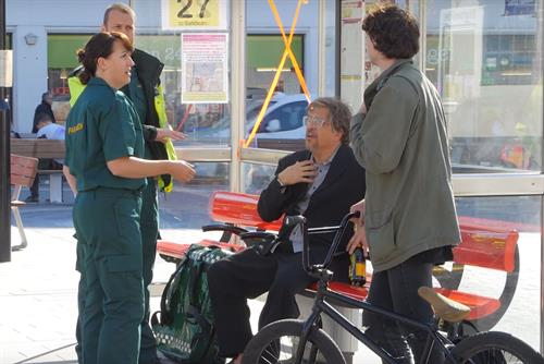 Dom Joly causes mischief in NHS 111 campaign