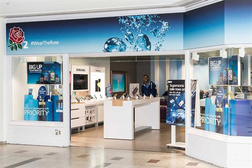 O2 rebrands stores ahead of Rugby World Cup