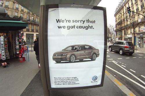 Brandalism activists take over Paris ad space for UN climate change summit