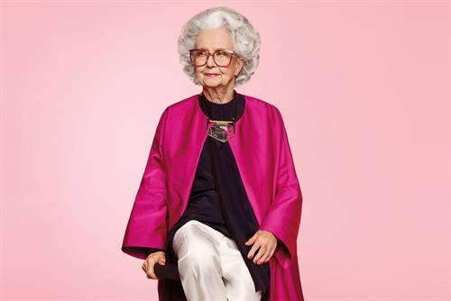 Harvey Nichols' Vogue ad features 100-year-old fashion model
