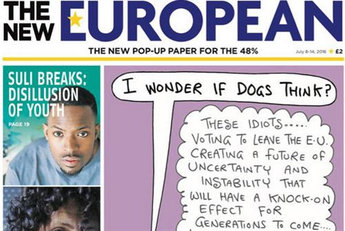 The New European to continue publishing after making profit