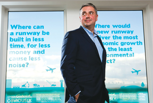 Gatwick's Stewart Wingate is confident he'll get the new London runway