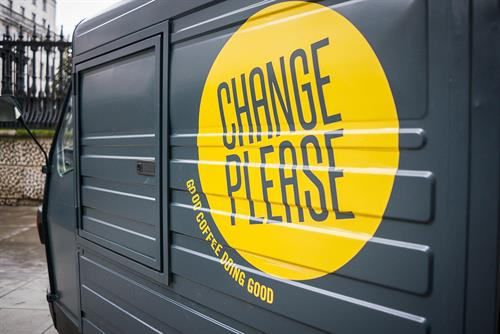 "The Big Issue ""change please"" by FCB Inferno"