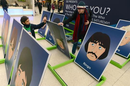 SSE stages giant Guess Who? board game stunt at London Waterloo