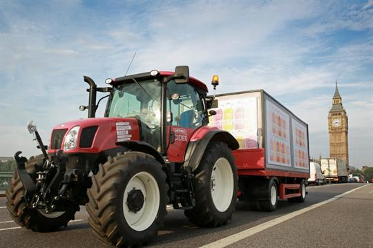 Smirnoff Cider launches with pink tractor London tour