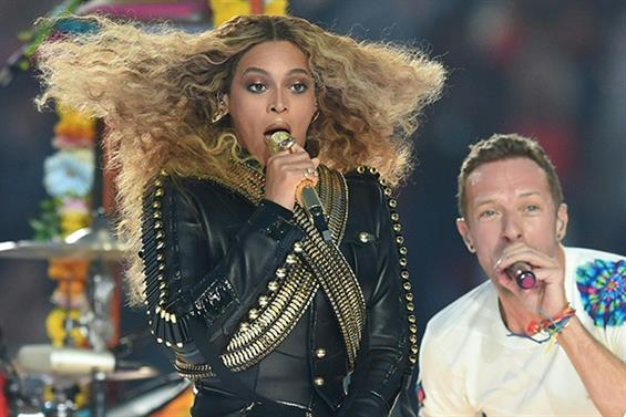 Beyonce and Chris Martin perform during Super Bowl 50 (Pic credit: TIMOTHY A. CLARY/AFP/Getty Images)