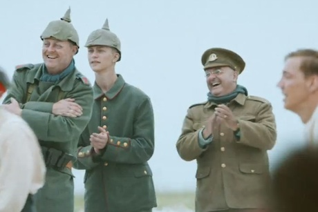 Sainsbury's Christmas: shows British and German soldiers coming together