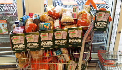 Million Meal Appeal will ask shoppers to donate an item to charity