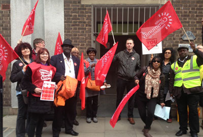 Equinox Care staff protest against pay cuts