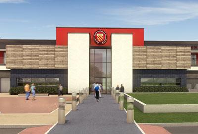 Artist's impression of new FC United ground