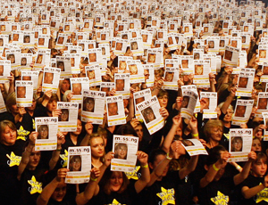 Rock Choir supporting Missing People's campaign