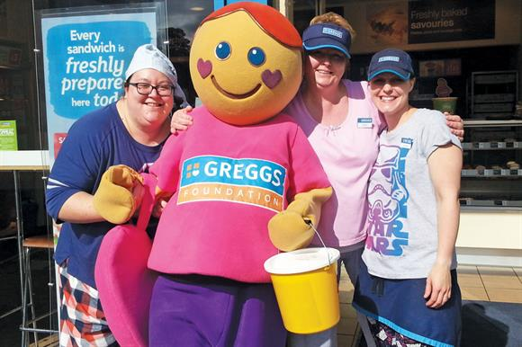Greggs staff raising money
