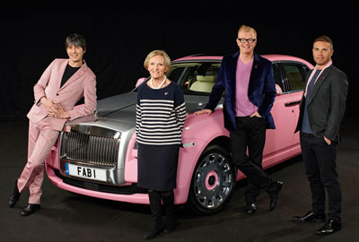 [L-R] Brian Cox, Mary Berry, Chris Evans and Gary Barlow