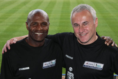 Luther Blissett [l] and David Annand
