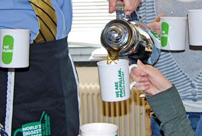 A Macmillan coffee morning event