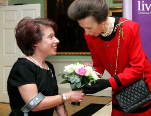 Princess Anne at a Livability event