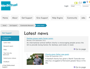 Media Trust's Community Newswire