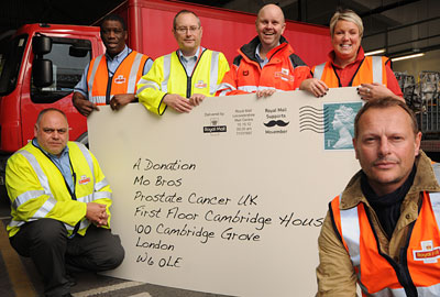 Neil Stuke [R] launched Royal Mail's support for the campaign