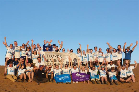 Members of staff got involved in a number of challenges, such as trekking in the Sahara