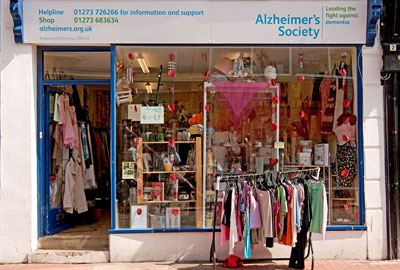 The Alzheimer's Society shop in Brighton closed last year