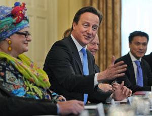 David Cameron with Kids company founder Camila Batmangelidjh
