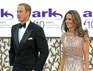 The Duke and Duchess of Cambridge at the Ark event