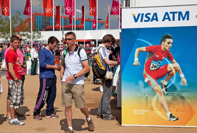 Visa ATM at the Olympic Park