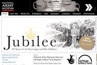 The National Army Museum's website
