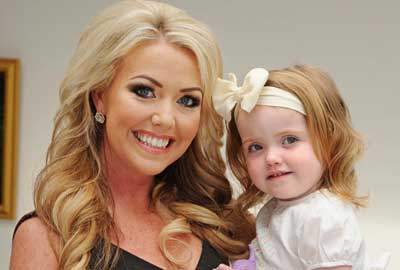 Kelly-Marie Stewart with her daughter Daisy