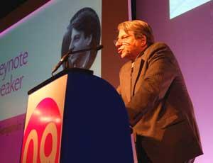 Benjamin Barber addresses the NCVO conference in London