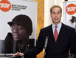 Prince William at a Centrepoint event