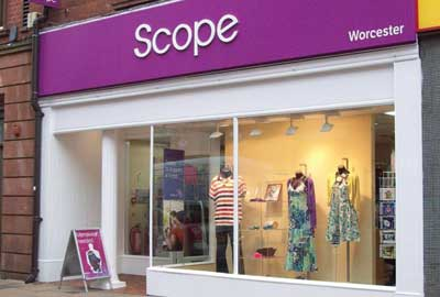 A Scope charity shop